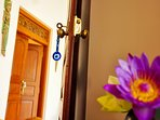 Our stunning newly renovated doors and windows are beautiful and keep the history of the villa alive