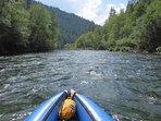 Kayaking fun on the Trinity River-exhilarating!