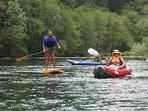 Paddle boarding and kayaking fun