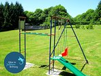Swings, slides and climbing frame