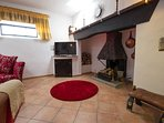 walk in inglenook fireplace in living room