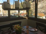 Atrium dining area with BBQ on Patio