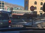 Free Trolley runs Main street