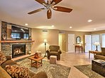 Lounge on the comfy couches and watch your favorite shows and movies on the flat screen TV.