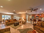 The living space provides ample space to move around and relax.