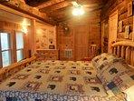 King size log bed