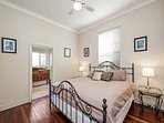 Main bedroom, with king-sized bed, large ensuite & walk-in-robe