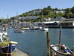 The bustling harbour in Looe