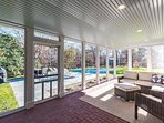 Screened Porch Opens to Pool and Patio