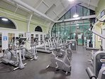 gym and workout area