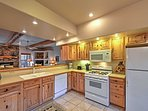 The fully-equipped kitchen has everything you need to whip up a yummy meal.
