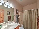 Spacious bathrooms are another great feature of this lovely townhome.
