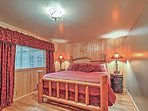The heads of the household will enjoy hibernating for the night in the master bedroom's king-sized bed.