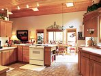 Large fully equipped kitchen - fun for whole group to cook