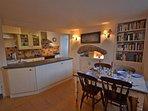 The kitchen diner.