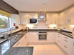 The ultra modern and fabulously equipped kitchen.