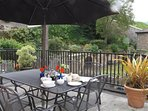 The wonderful terrace - perfect for al fresco dining.