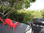 Deck, view over Juba Sound and BBQ