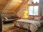 Loft Suite has queen bed and queen futon. We conservatively rate it at occupancy of 3...  .