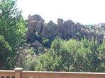 Rear deck- boulder views