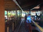 Bar and restaurant on beach