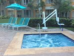 Outdoor jacuzzi as well as one in each room!