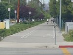 Dedicated walking/running/biking lanes across the street so that you can exercise safely!