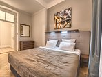 Cozy bedroom with king-sized double bed