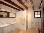 The second ground floor shower room with wc, a separate wc is accessed in the tv lounge.