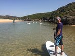 Paddleboard trips available from the villa