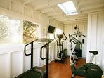 Detached gym with the best ocean views