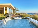 Watch the sun rise and set over the ocean from the hot tub. Enjoy the infinite ocean views