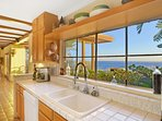 Amazing ocean views from the kitchen!