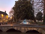 One of Bourton's many footbridges