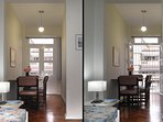 Small dining room with french doors