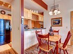 Lake Forest Dining & Kitchen Area Frisco Lodging Vacation Rental
