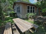 Picnic Table Towards House
