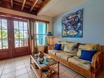 Double french doors lead to 2nd floor balcony and superb ocean views. Another balcony on 3rd floor!