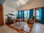 Stunning third floor sitting area in master bedroom. Door leads to third floor balcony!
