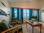 Beautiful tasteful sitting area in third floor master bedroom! Leads to third floor balcony!