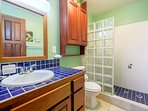 One of two full bathrooms! The master bedroom has its own private bathroom.