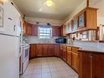 Large fully equipped kitchen! All of the tools necessary to prepare great meals with local food!