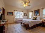 Master bedroom with queen sized bed and attached private bathroom!