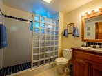 Second full bathroom in the hallway. Second and third bedroom occupants will use this!