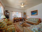 Another view of the comfortable and cozy living area. Room for your entire family! Maximum 8 persons