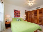 Relax in your queen sized bed. Master bedroom has private bathroom.