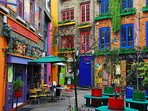 Covent Garden for food, shopping and entertainment is a 5 minute walk away