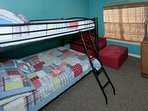 Bedroom with bunk bed (full on top and bottom)