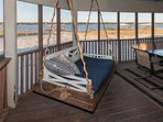 Swing/daybed on screened in porch
