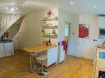 big kitchen with modern appliances